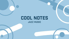 Blue White Abstract Shapes Music Jazz Blog Banner Jazz