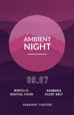 Violet and White Ambient Night Poster Desert