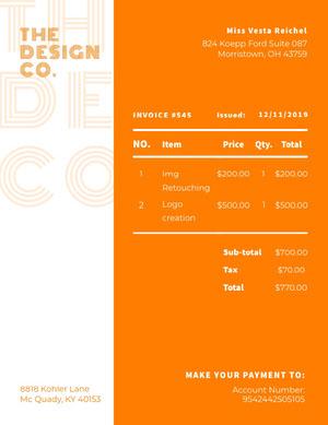 Orange and White Design Co Business Quotation devis