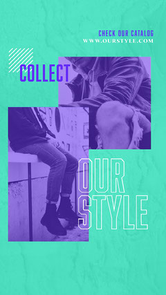 Collect Our Style Instagram Story Neon