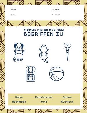 matching pictures with words worksheet  Arbeitsblatt