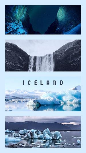 Blue and White Iceland Wallpaper iPhone-Hintergrundbild