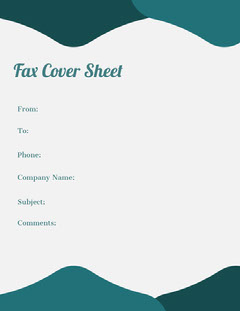 Teal Geometric Fax Cover Sheet  Teal