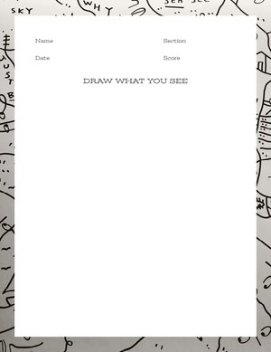 White and Grey Empty Drawing Worksheet Työkirja