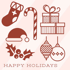 happy holidays instagram post Christmas