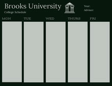 Black and Gray College Schedule Aikataulu