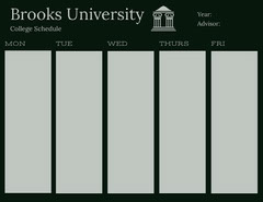 Black and Gray College Schedule College