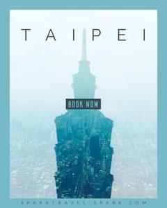Blue and White Taipei Social Post Adventure