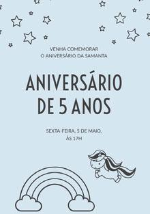 light blue unicorn birthday cards  Cartão de aniversário