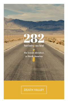 Yellow Death Valley Travel and Tourism Pinterest Graphic with Road in Desert California