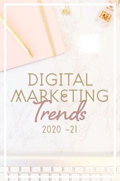Pink & Gold Desk & Keyboard Pinterest Post Marketing