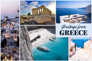 Light Toned Postcard From Greece Card 4x6 Postcard