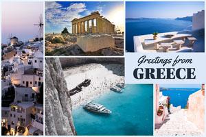 Light Toned Postcard From Greece Card Tarjetas postales