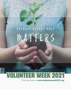Because Giving Back MattersVolunteerWeek2021 Instagram Portrait Earth