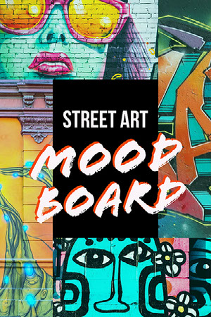 Colorful Street Art Collage Pinterest Post 50 caratteri moderni