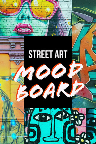 Colorful Street Art Collage Pinterest Post Moodboard