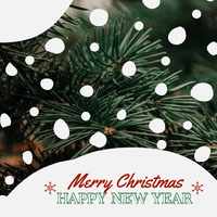 merry Christmas happy new year fir snow igsquare  Christmas Card