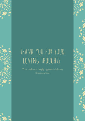 Blue and White Thank You Card Thank You Card