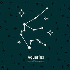 February horoscope Instagram post  Blue