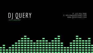 Green Soundscape DJ Business Card Tarjetas de Presentación para DJ