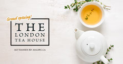 White Tea House Facebook Post Ad Grand Opening Flyer