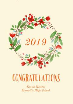 2019<BR> Graduation Congratulation
