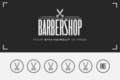 Black and White Barbershop Loyalty Card Barber