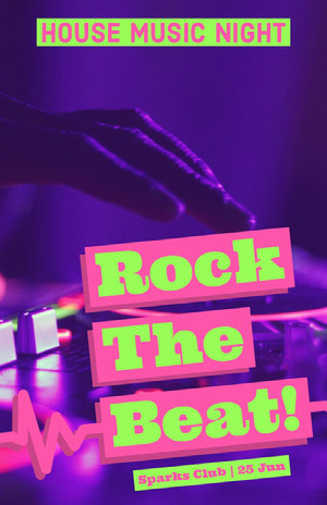 Rock<BR>The<BR>Beat! Poster di concerto