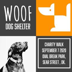 Grey And Orange Woof Dog Shelter Charity IG Square Volunteer