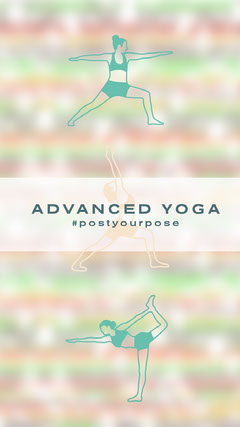 Illustrated Advanced Yoga Pose Instagram Story Wellness