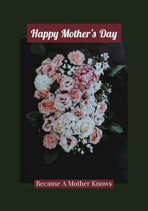Green With Flowers Happy Mother's Day Card Mother's Day Messages