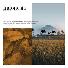 White and Cold Toned Indonesia Travel Ad Instagram Post Landscape
