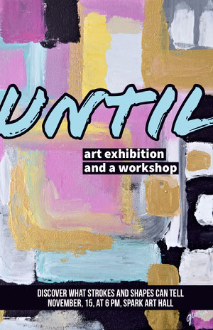 Multicolored Abstract Style Art Exhibition Flyer Arts Poster