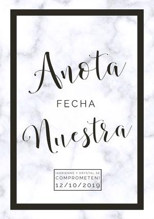 save the date announcements  Anuncio de boda