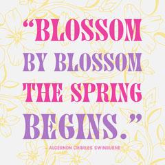 Instagram Portrait Blossom Quote Spring