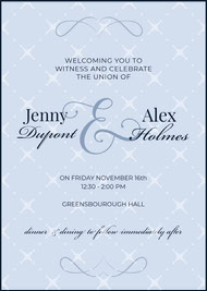 Blue and Violet Celebration Card Save the date