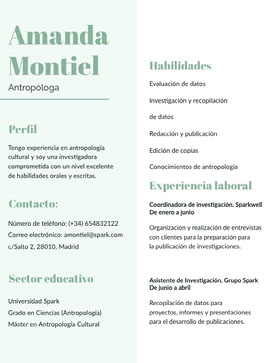 Amanda Montiel Currículum profesional