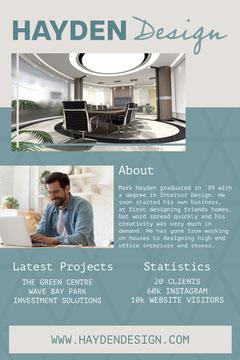 Cream & Blue Interior Designer Pinterest Post Designer