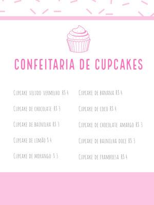 CONFEITARIA DE CUPCAKES Menu