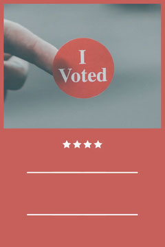 Red and White Top 5 Reasons To Vote Pinterest Voting