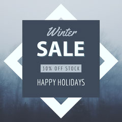 Winter Navy Sale Instagram Square Holiday Sale