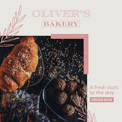 Oliver's Bakery Instagram Square Gold