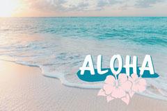 aloha Hawaii postcard Beach