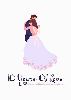 Diamond Wedding Couple Card Anniversary Card Messages