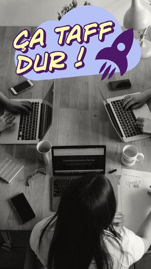 Purple Cloud rocket Work Snapchat Filter Affiche de motivation