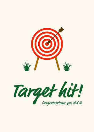 Cream Red Green Congratulations Target Hit Card Congratulations Messages