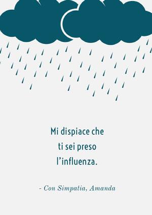 feeling under the weather get well soon cards Biglietto d'auguri di pronta guarigione