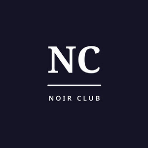 Dark Blue Club Logo Logo com letras