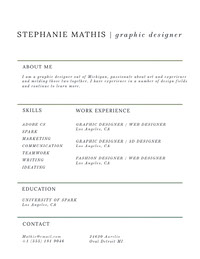 Modern Graphic Designer Resume CV