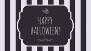 Black and White Stripes and Skull Halloween Party Gift Tag Festa di Halloween
